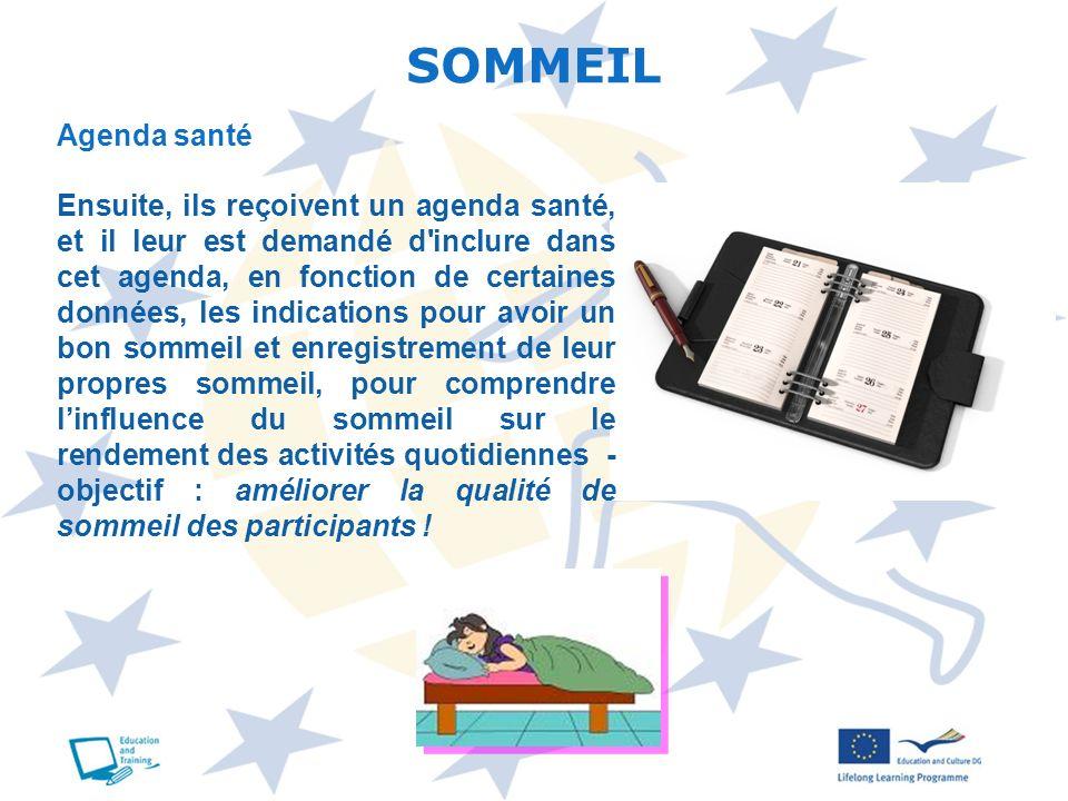 SOMMEIL Agenda santé.