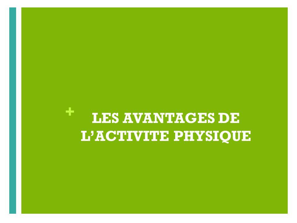 LES AVANTAGES DE L'ACTIVITE PHYSIQUE