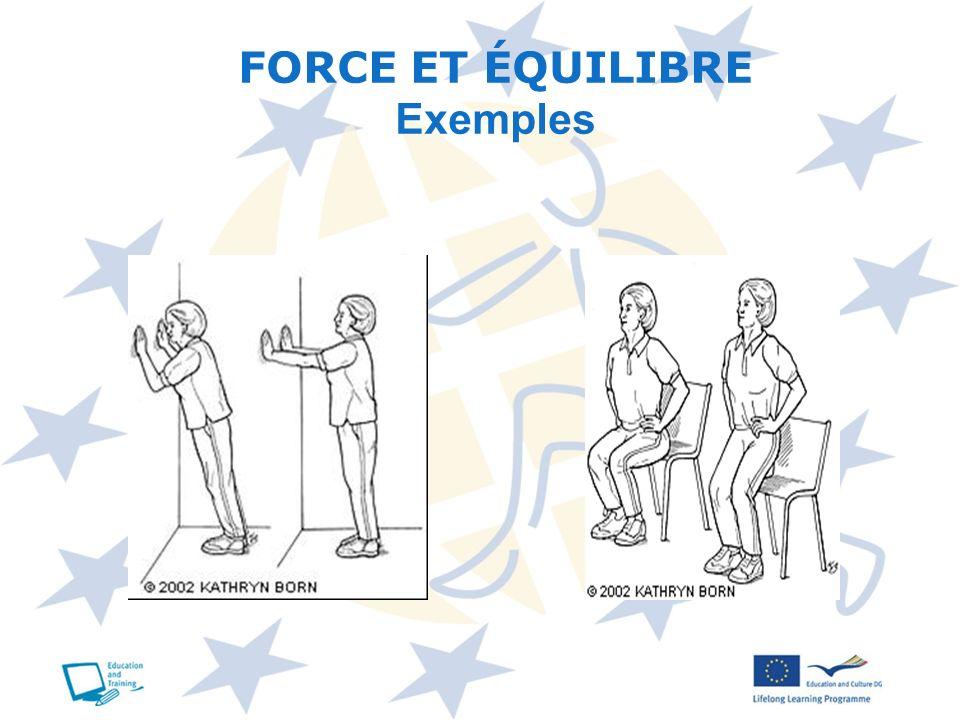 FORCE ET ÉQUILIBRE Exemples