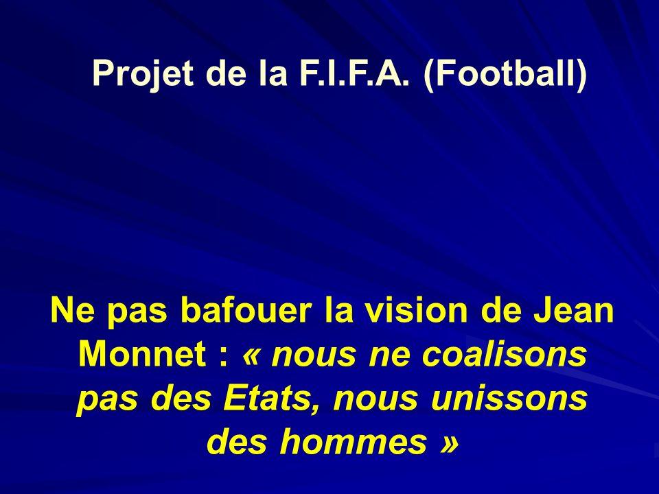 Projet de la F.I.F.A. (Football)