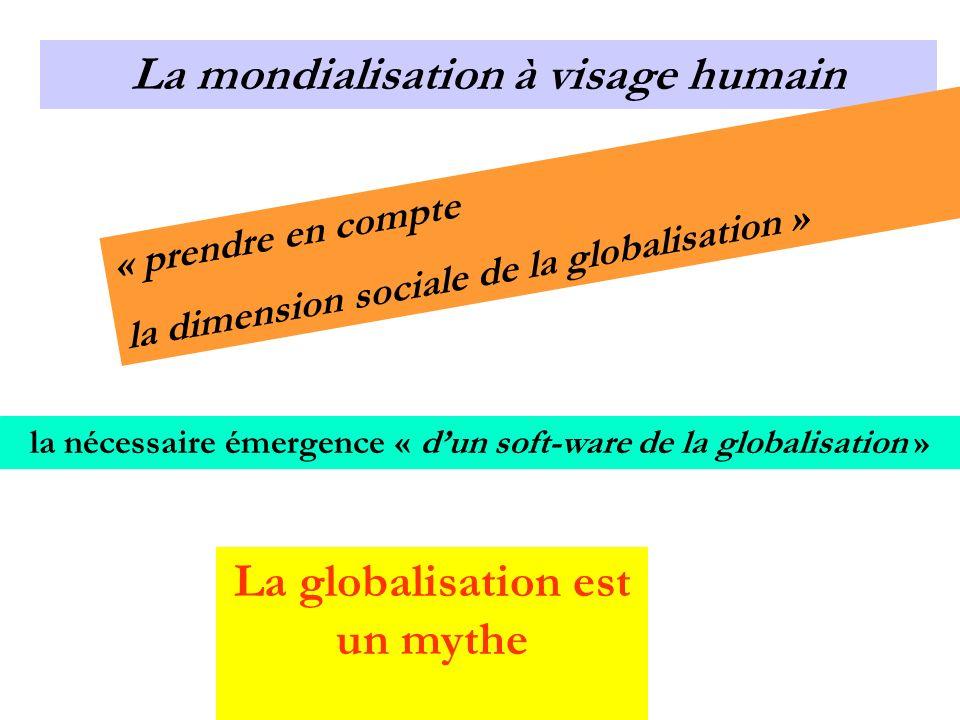 La mondialisation à visage humain La globalisation est un mythe