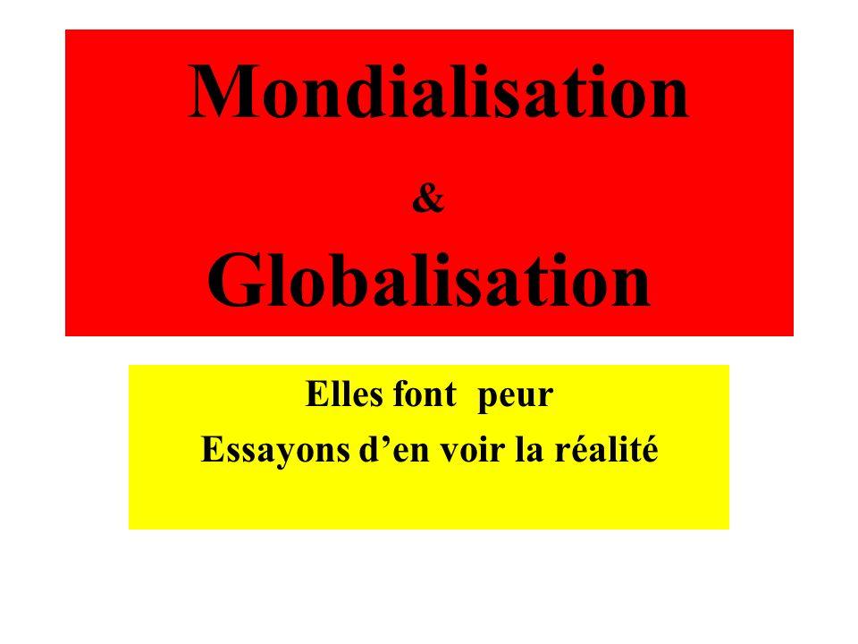 Mondialisation & Globalisation