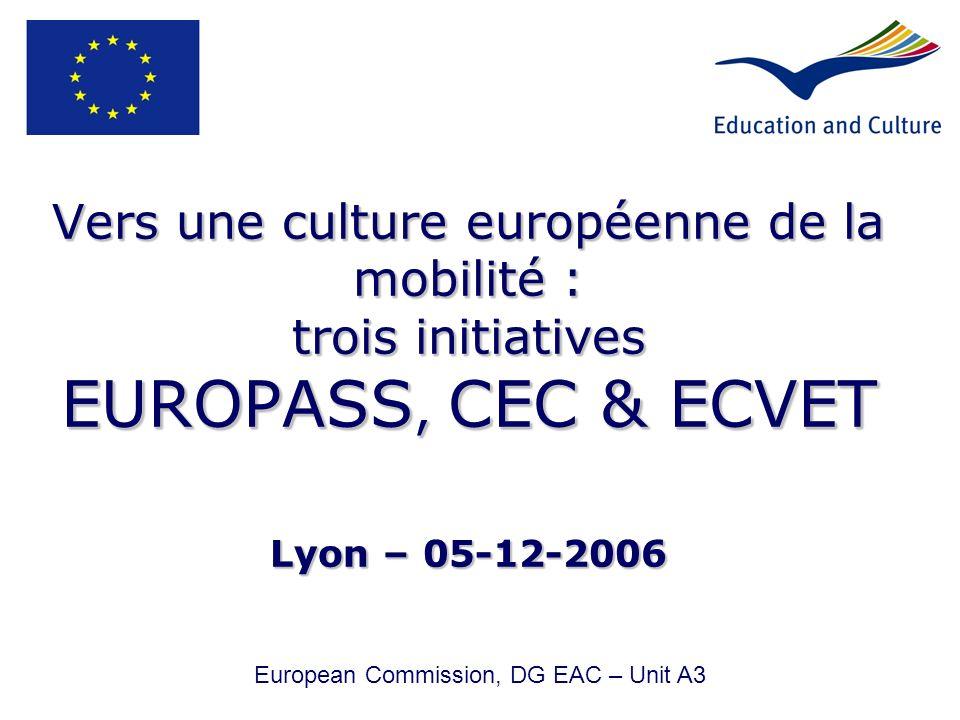 European Commission, DG EAC – Unit A3