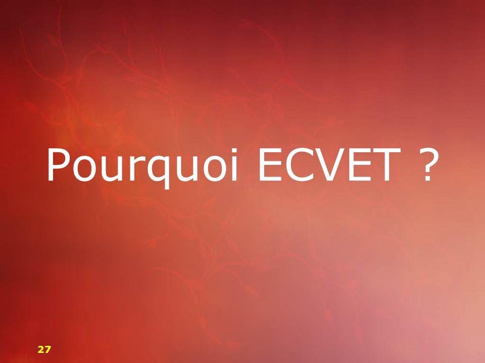 Pourquoi ECVET 27