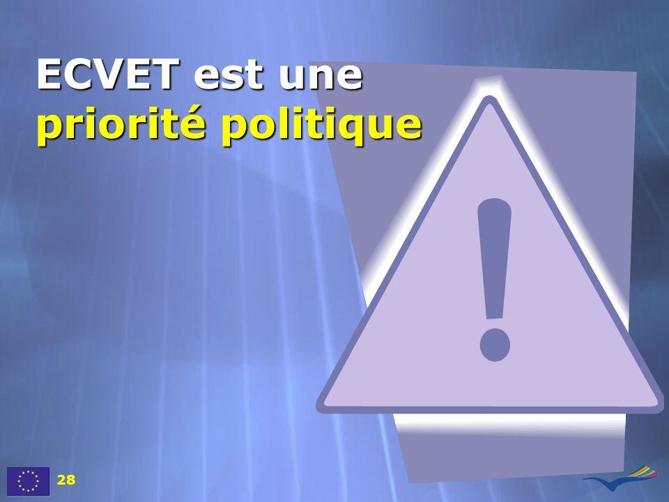 ECVET est une priorité politique