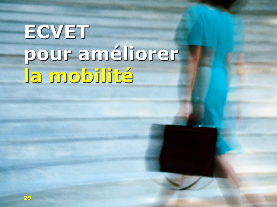 ECVET pour améliorer la mobilité