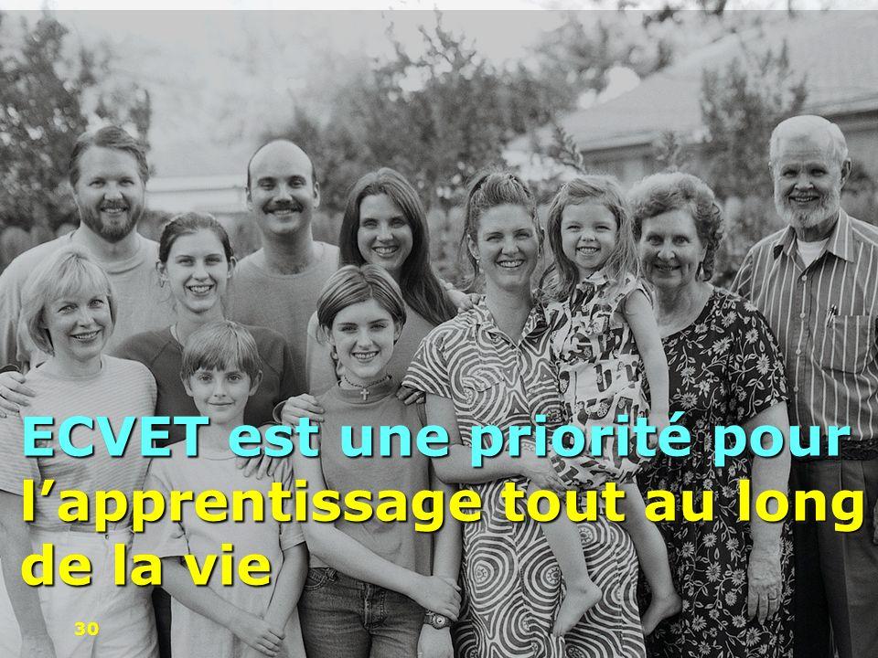 ECVET est une priorité pour l'apprentissage tout au long de la vie