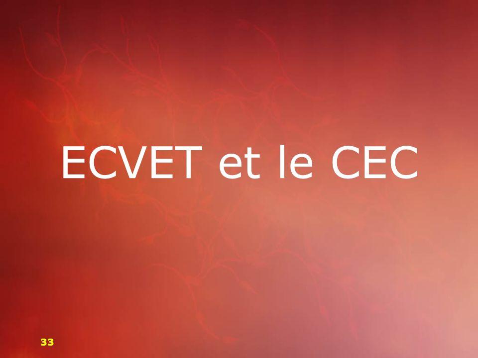 ECVET et le CEC 33