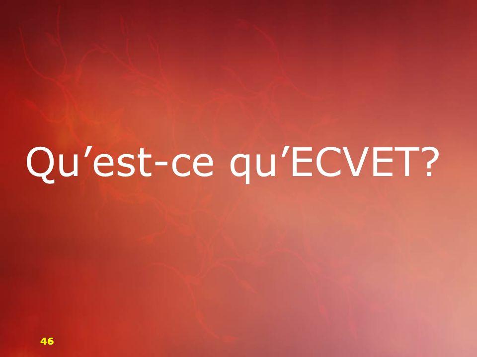 Qu'est-ce qu'ECVET 46