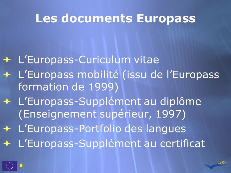Les documents Europass
