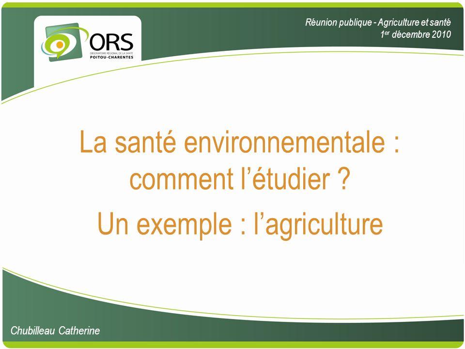 La santé environnementale : comment l'étudier