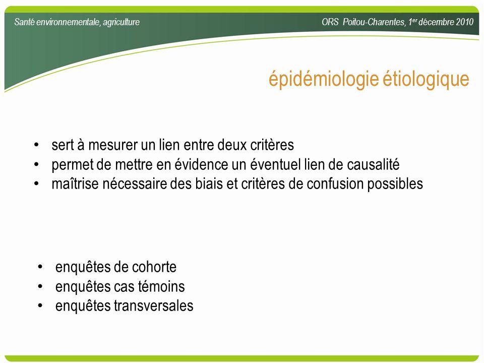épidémiologie étiologique