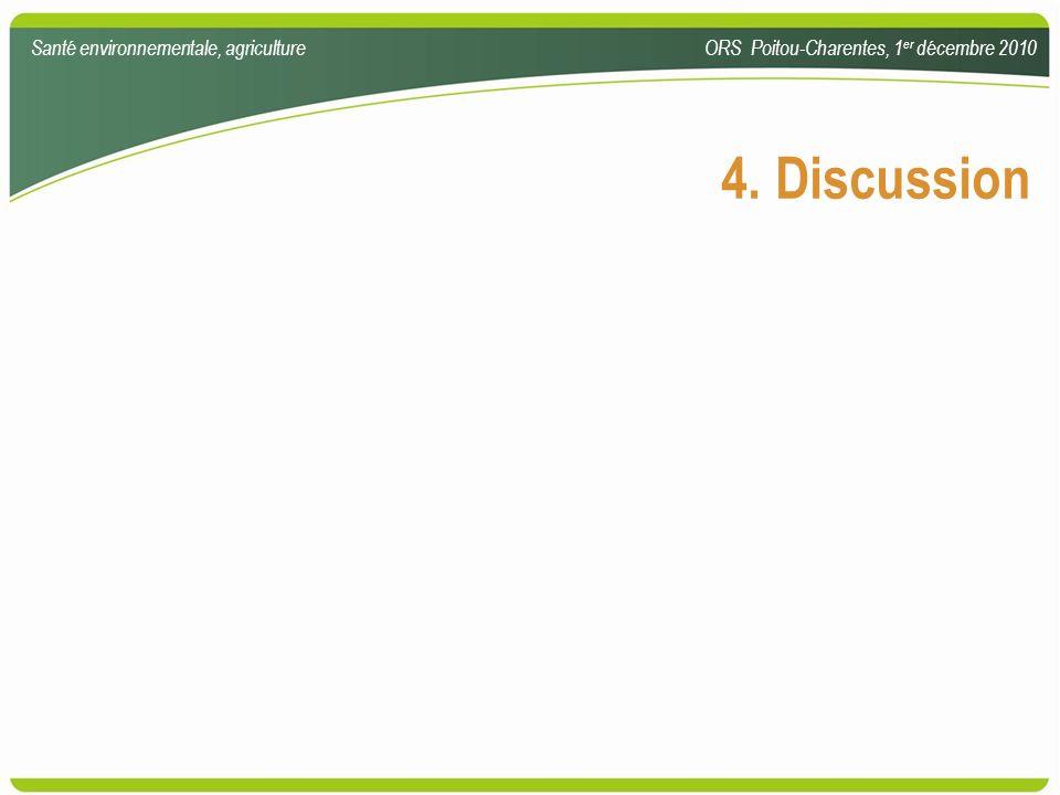 4. Discussion Santé environnementale, agriculture