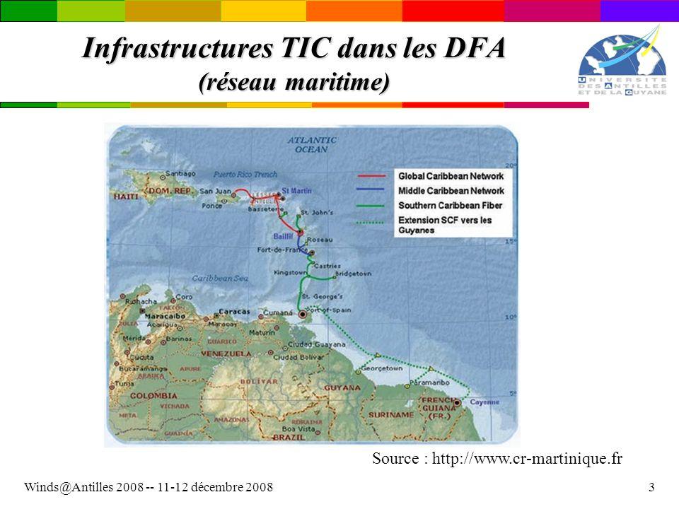 Infrastructures TIC dans les DFA (réseau maritime)