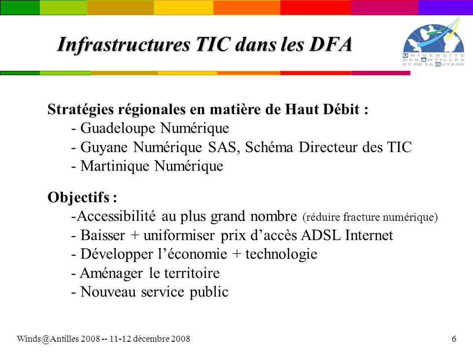Infrastructures TIC dans les DFA