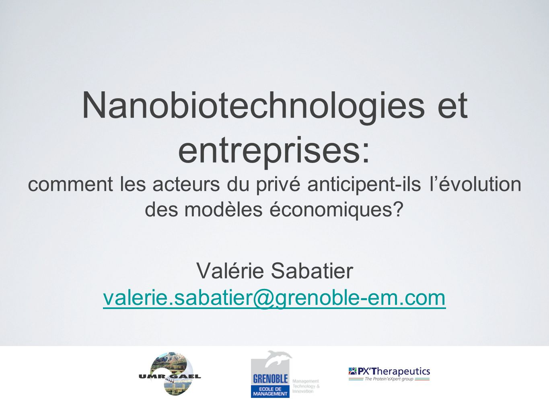 Nanobiotechnologies et entreprises: comment les acteurs du privé anticipent-ils l'évolution des modèles économiques