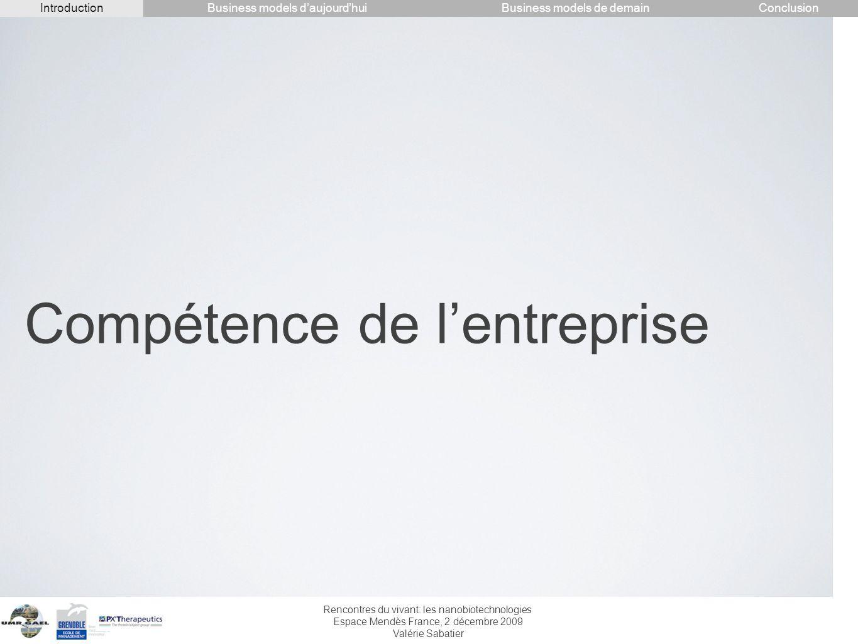 Compétence de l'entreprise