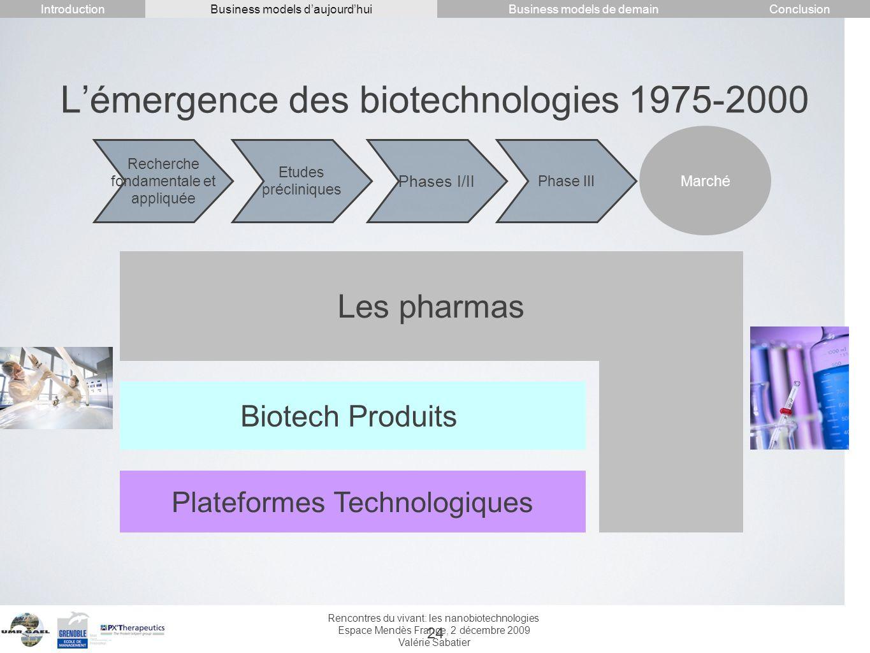 L'émergence des biotechnologies 1975-2000