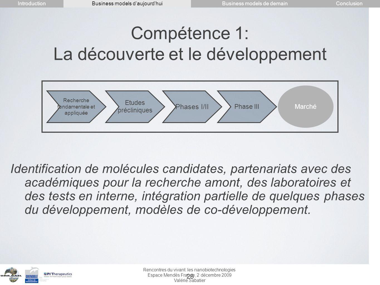 Compétence 1: La découverte et le développement