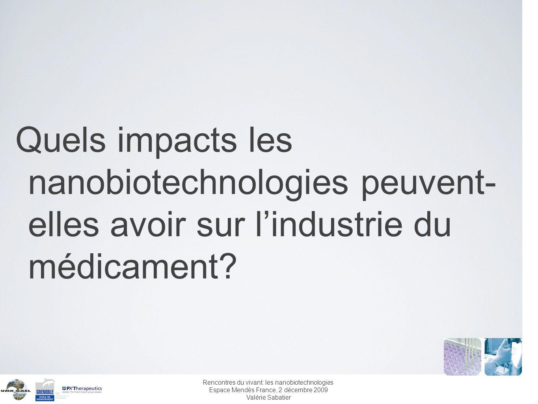 Quels impacts les nanobiotechnologies peuvent- elles avoir sur l'industrie du médicament