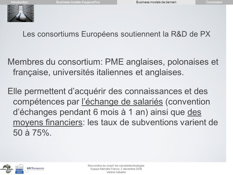 Les consortiums Européens soutiennent la R&D de PX