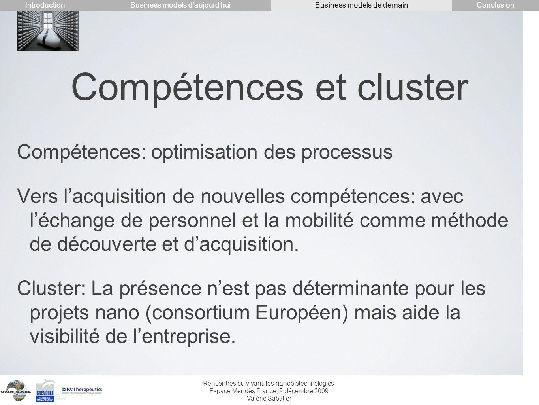 Compétences et cluster