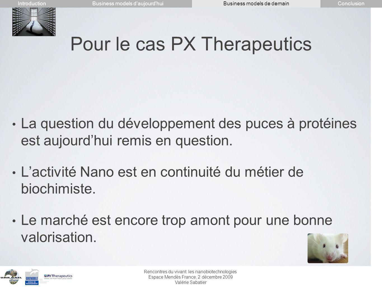 Pour le cas PX Therapeutics