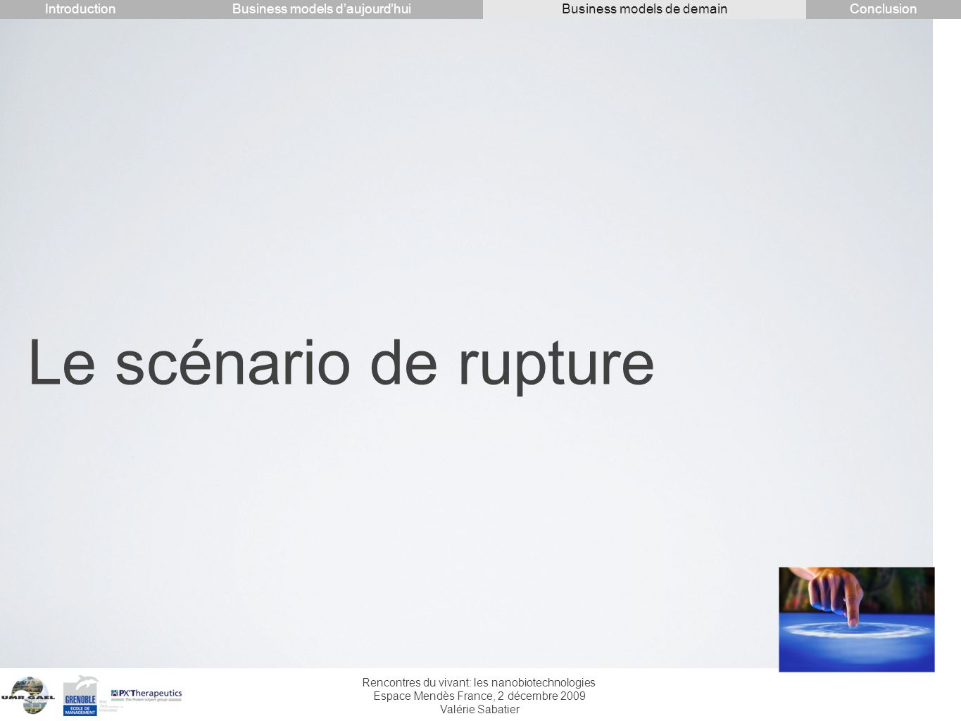 Le scénario de rupture Introduction Conclusion