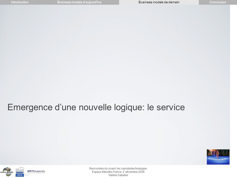 Emergence d'une nouvelle logique: le service