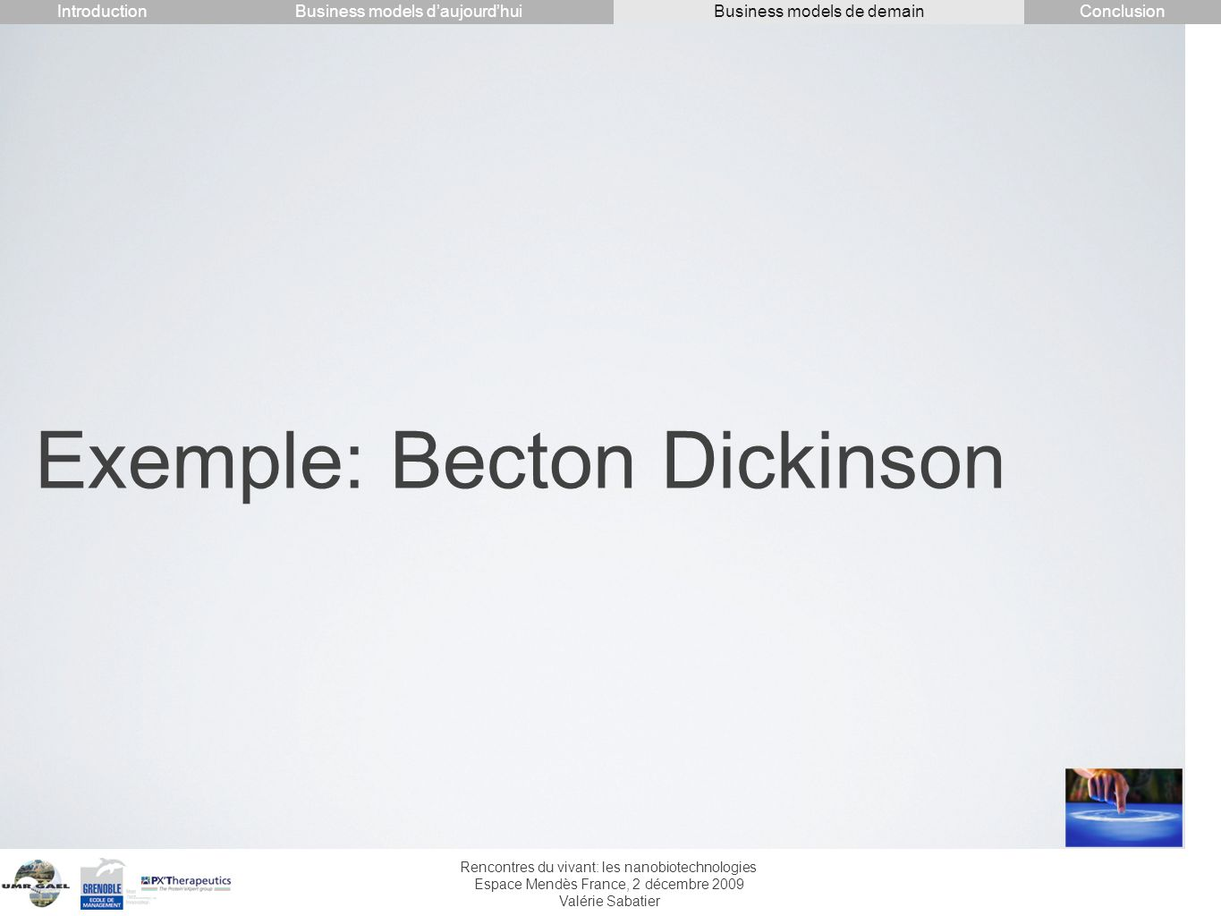 Exemple: Becton Dickinson