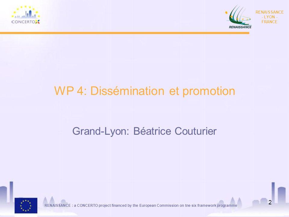 WP 4: Dissémination et promotion