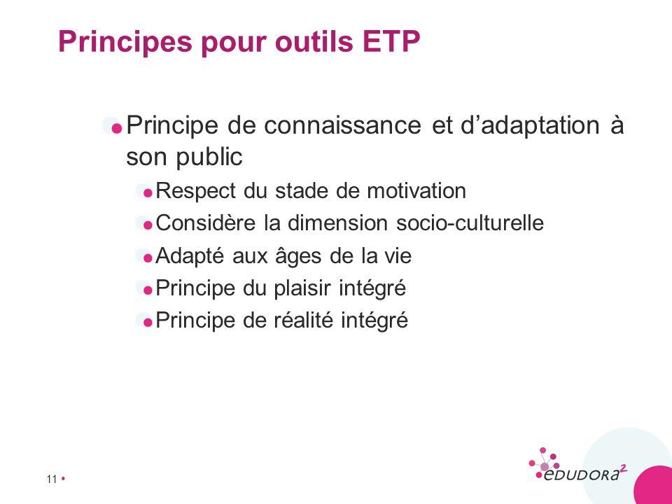 Principes pour outils ETP