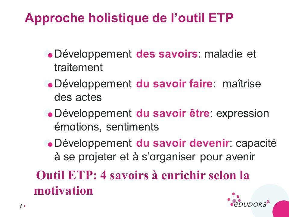 Approche holistique de l'outil ETP
