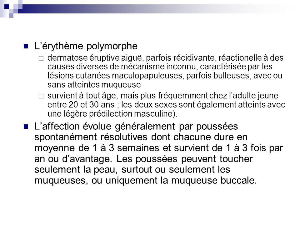 L'érythème polymorphe