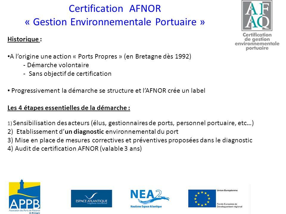 « Gestion Environnementale Portuaire »