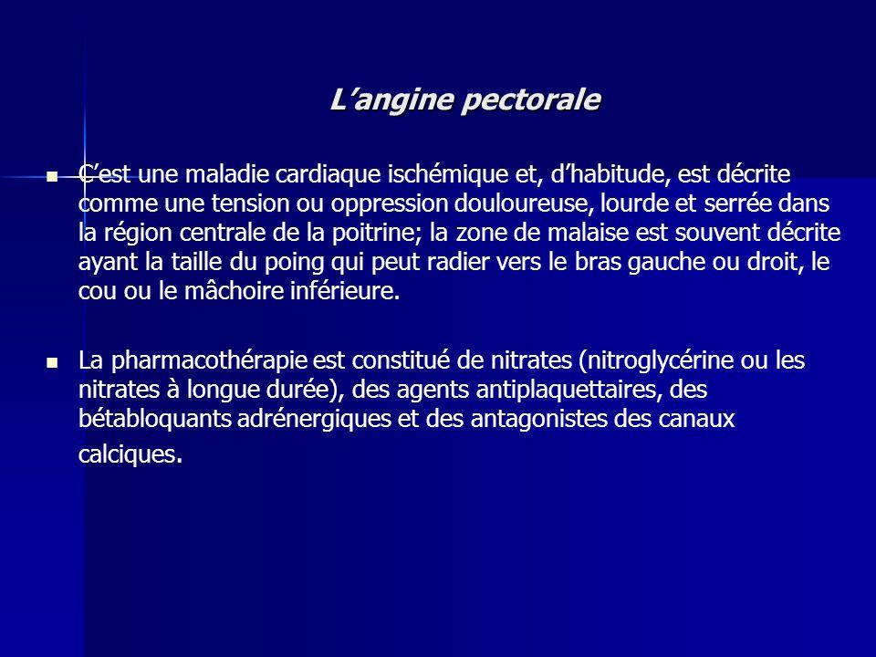L'angine pectorale