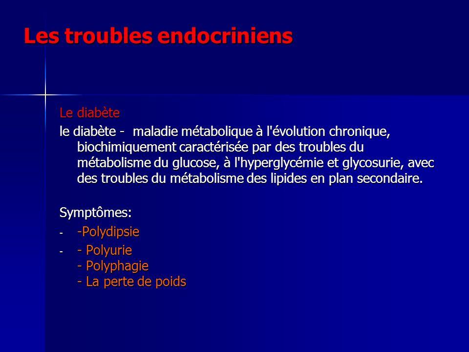 Les troubles endocriniens
