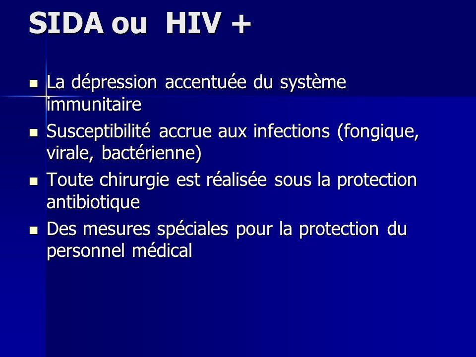 SIDA ou HIV + La dépression accentuée du système immunitaire