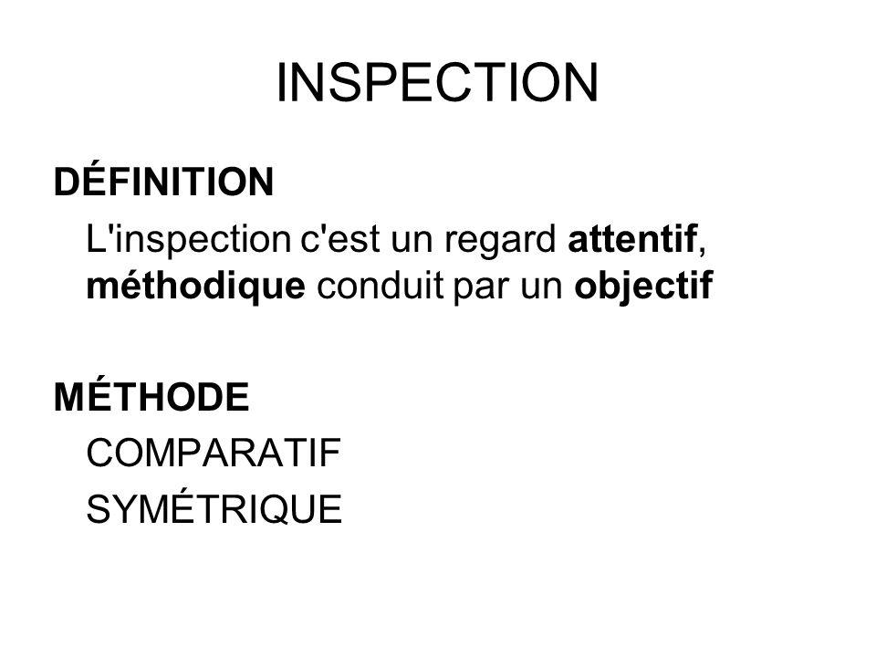 INSPECTION DÉFINITION