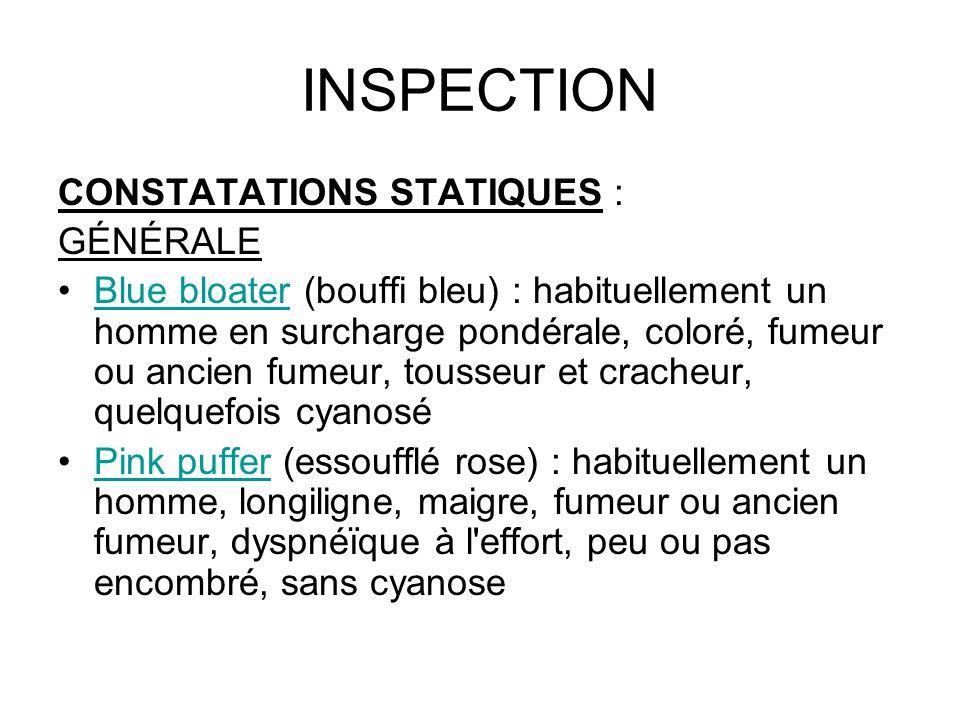 INSPECTION CONSTATATIONS STATIQUES : GÉNÉRALE