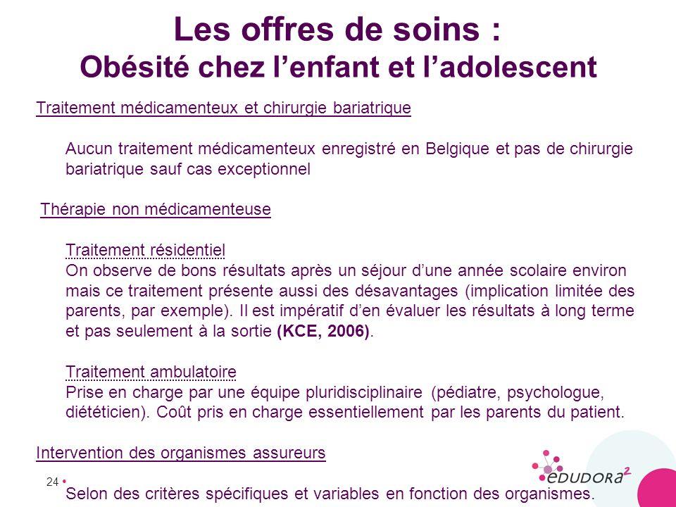 Les offres de soins : Obésité chez l'enfant et l'adolescent
