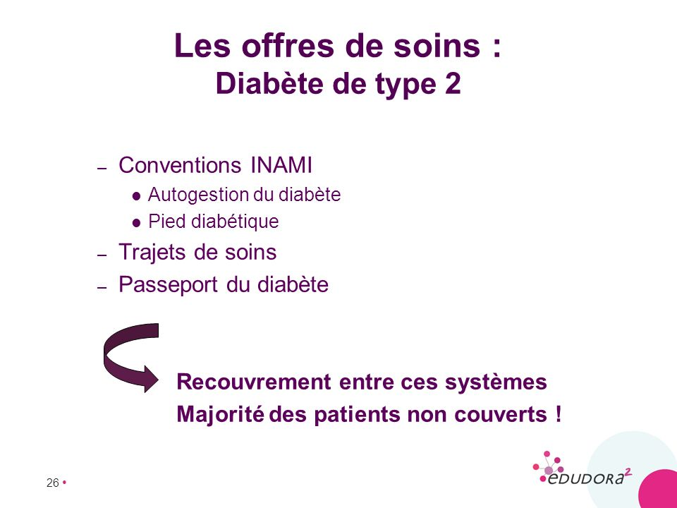 Les offres de soins : Diabète de type 2
