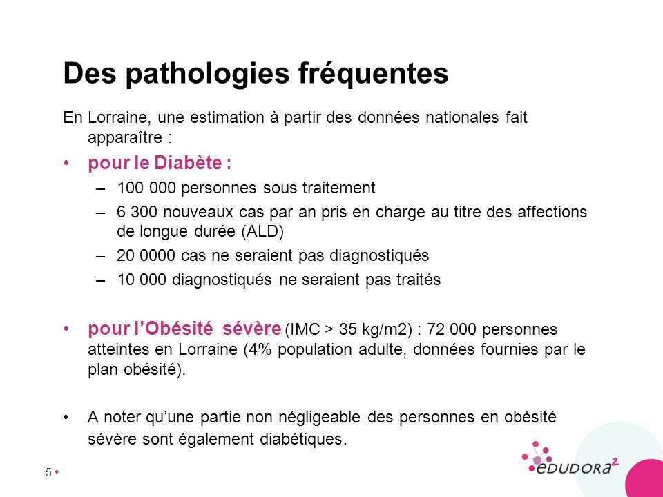 Des pathologies fréquentes