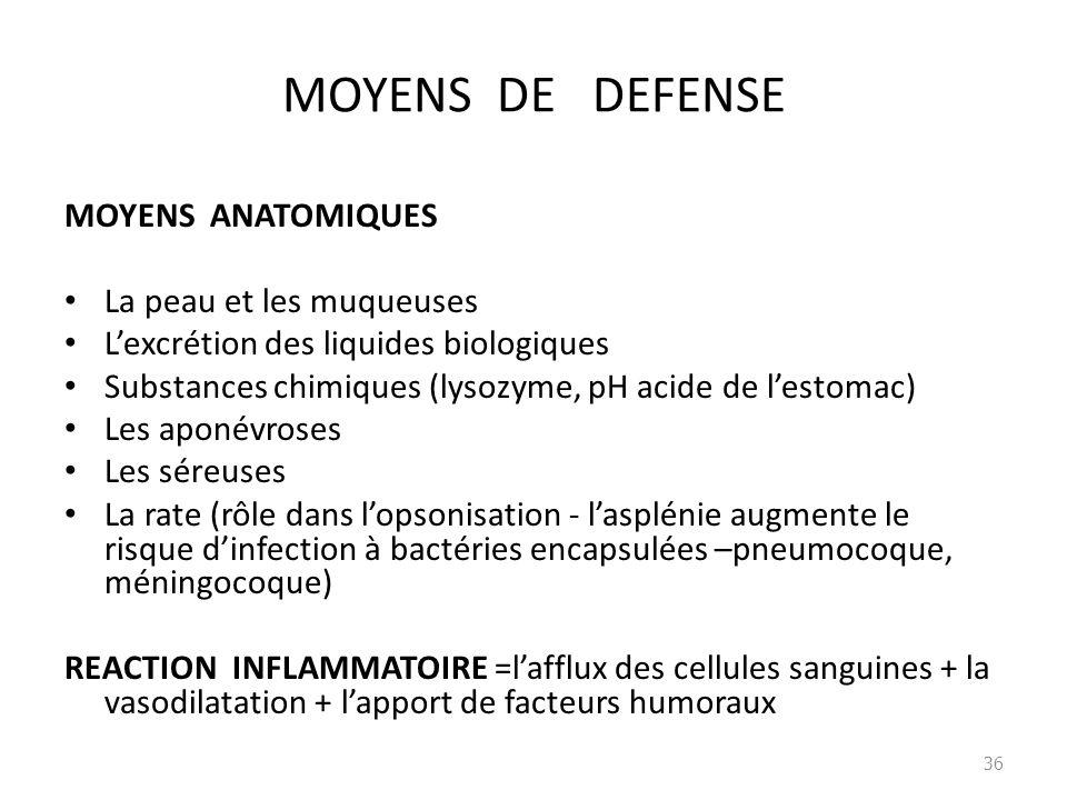 MOYENS DE DEFENSE MOYENS ANATOMIQUES La peau et les muqueuses