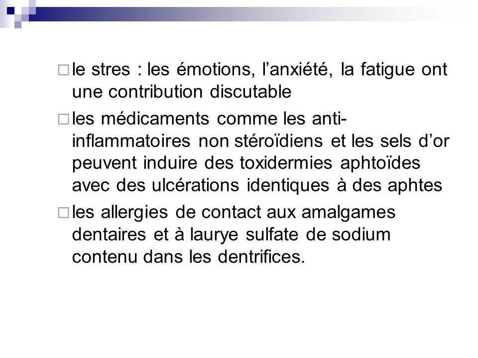 le stres : les émotions, l'anxiété, la fatigue ont une contribution discutable