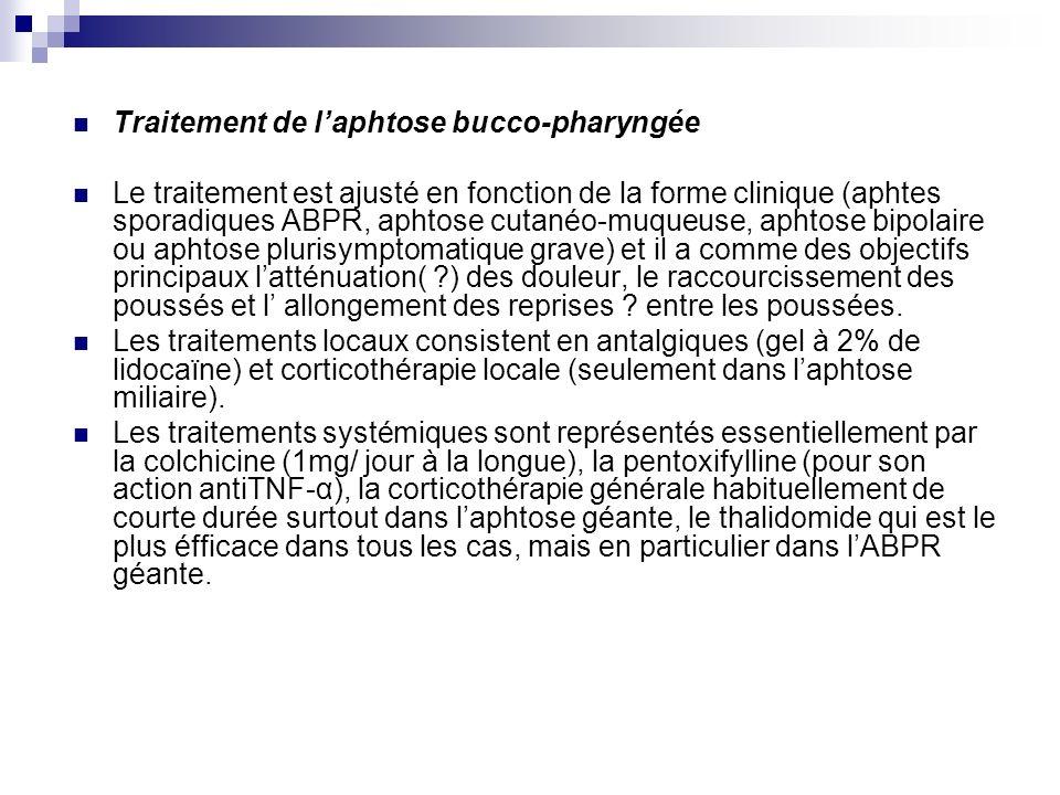 Traitement de l'aphtose bucco-pharyngée