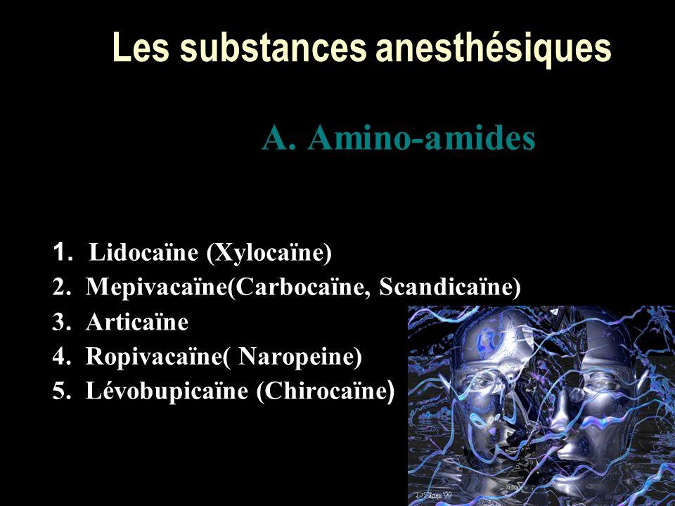 Les substances anesthésiques