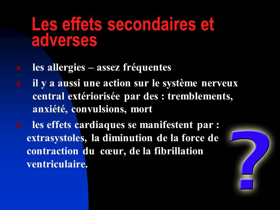 Les effets secondaires et adverses