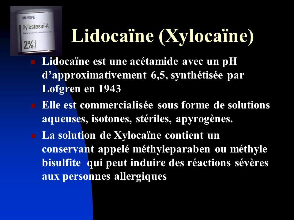 Lidocaïne (Xylocaïne)