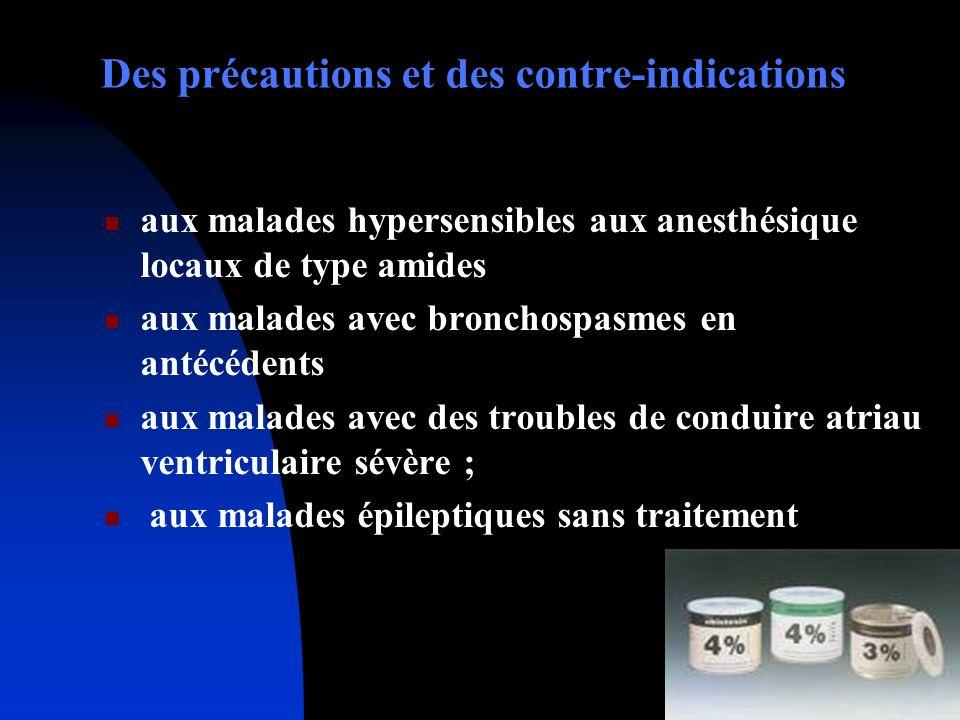 Des précautions et des contre-indications